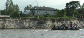 শেরপুরে ব্রক্ষপুত্র নদীর ভাঙ্গন \ বিলীন হচ্ছে ফসলি জমি \ হুমকীর মূখে বাড়িঘর