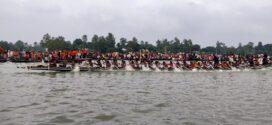 শাহজাদপুর বড়াল নদীতে অনুষ্ঠিত হচ্ছে ঐতিহ্যবাহি নৌকা বাইচ প্রতিযোগিতা