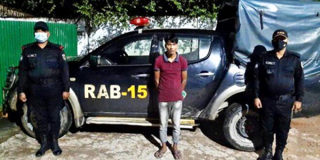 উখিয়ায় র্যাব-১৫'র অভিযানে ৮ হাজার পিস ইয়াবাসহ আটক-১